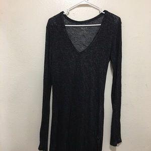 Rails Black Long-Sleeve Jersey Dress Medium